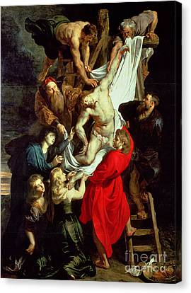 The Descent From The Cross Canvas Print by Peter Paul Rubens