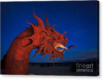 The Desert Serpent Under A Starry Night Canvas Print