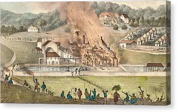 The Destruction Of The Roehampton Estate Canvas Print