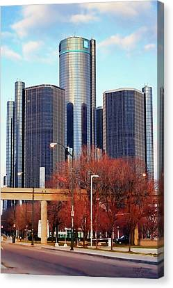 The Detroit Renaissance Center Canvas Print by Gordon Dean II