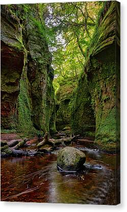 The Devil Pulpit At Finnich Glen Canvas Print