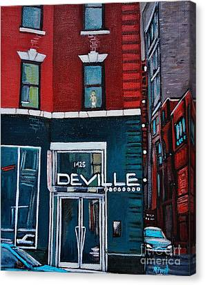 The Deville Canvas Print by Reb Frost