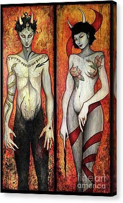 The Devils Canvas Print by Dori Hartley