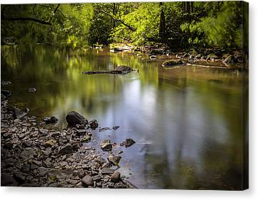 Canvas Print featuring the photograph The Devon River by Jeremy Lavender Photography