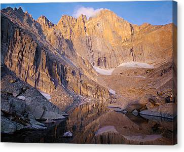 The Diamond Of Long's Peak Canvas Print by Nathan Mccreery