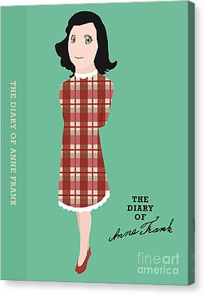 The Diary Of Anne Frank Book Cover Movie Poster Art 2 Canvas Print by Nishanth Gopinathan