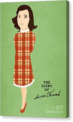 The Diary Of Anne Frank Book Cover Movie Poster Art 3 Canvas Print by Nishanth Gopinathan