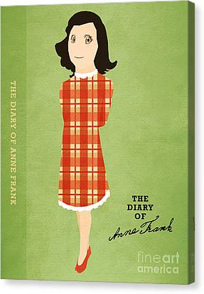 Famous Literature Canvas Print - The Diary Of Anne Frank Book Cover Movie Poster Art 4 by Nishanth Gopinathan