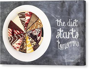 The Diet Starts Tomorrow Canvas Print by Edward Fielding