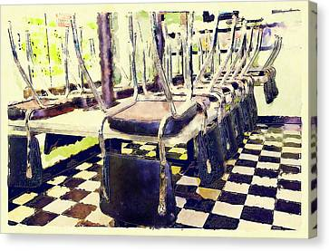 The Diner Is Closed Canvas Print by Susan Leggett