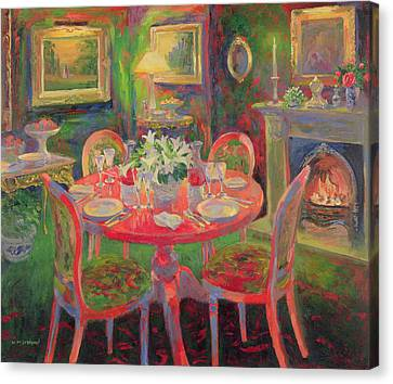 The Dining Room Canvas Print by William Ireland