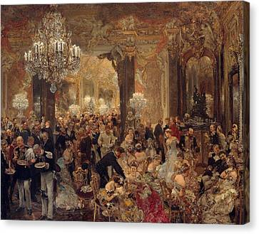 The Dinner At The Ball Painting Painted Originally Canvas Print