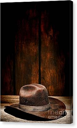 The Dirty Brown Hat Canvas Print by Olivier Le Queinec