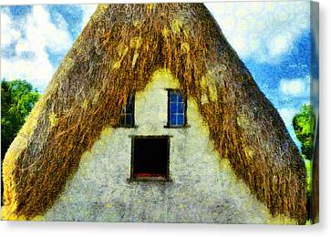 Shed Canvas Print - The Disheveled House - Pa by Leonardo Digenio