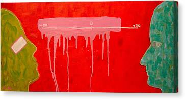 Canvas Print featuring the painting The Distance Between Me And Myself by Ana Maria Edulescu