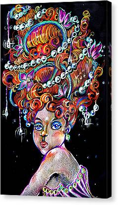 Canvas Print featuring the drawing The Diva by Nada Meeks