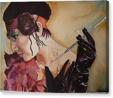 Canvas Print featuring the painting The Diva by P Maure Bausch