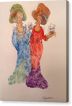 Canvas Print - The Divas by Marilyn Jacobson