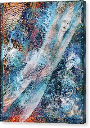 The Diver Canvas Print by Sue Reed