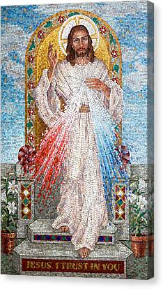 The Divine Mercy  Canvas Print by Janet Flom
