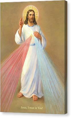 The Divine Mercy Of Jesus Canvas Print by Svitozar Nenyuk