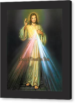 The Divine Mercy Canvas Print by Samuel Epperly