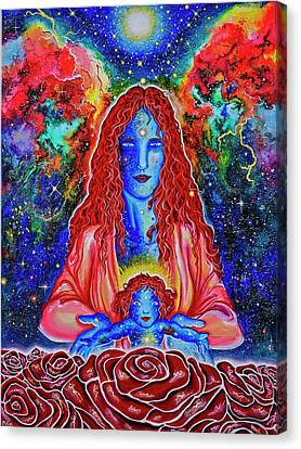 The Divine Mother And Child Canvas Print by Marika Segal