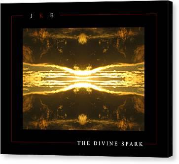 The Divine Spark Canvas Print by Jonathan Ellis Keys