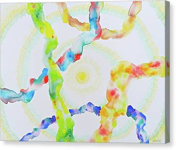 Canvas Print featuring the mixed media The Divine Within by Michele Myers