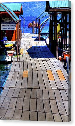 The Dock At Hill's Resort Canvas Print by David Patterson