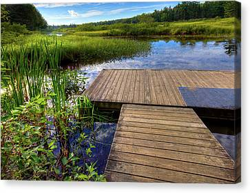 The Dock At Mountainman Canvas Print by David Patterson