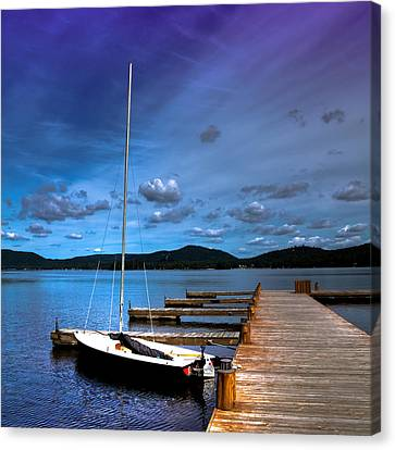 The Dock At The Woods Inn Canvas Print by David Patterson