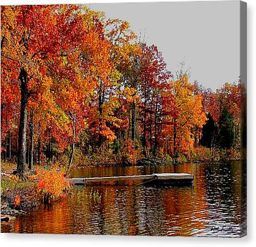 The Dock Canvas Print by Rick Friedle