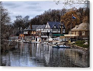 Boathouse Row Canvas Print - The Docks At Boathouse Row - Philadelphia by Bill Cannon