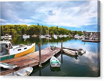 The Docks In South Bristol Maine Canvas Print by Eric Gendron