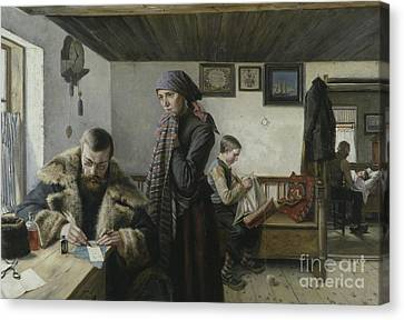 The Doctor Calls Canvas Print by Charles John William Louis Aspelin