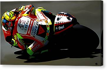 The Doctor Valentino Rossi Canvas Print