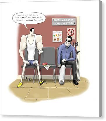 Jim Goes To The Doctors Canvas Print by Kris Burton-Shea
