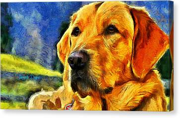 The Dog - Da Canvas Print by Leonardo Digenio