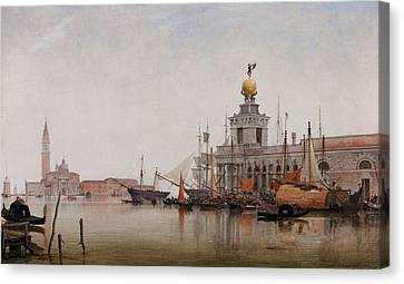 The Dogana Di Mare With San Giorgio Maggiore Beyond Canvas Print by Edward William Cooke