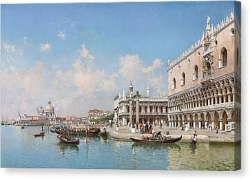 The Doge's Palace And Santa Maria Della Salute Canvas Print by Federico del Campo
