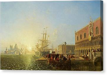The Doge's Palace, Venice, 1835 Canvas Print by William James Muller