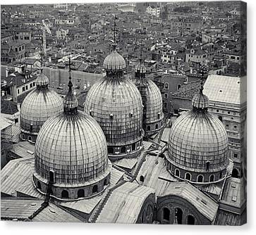 Canvas Print featuring the photograph The Domes Of San Marco, Venice, Italy by Richard Goodrich