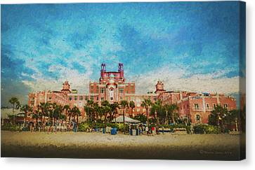 Grill Canvas Print - The Don Cesar Resort by Marvin Spates