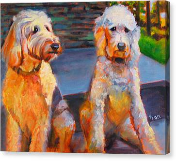 The Doodle Sisters Canvas Print by Kaytee Esser