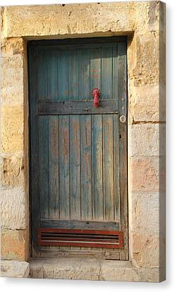Canvas Print featuring the photograph The Door And The Hand by Yoel Koskas