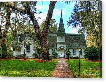 The Door Christ Church St Simons Island Georgia Art  Canvas Print by Reid Callaway