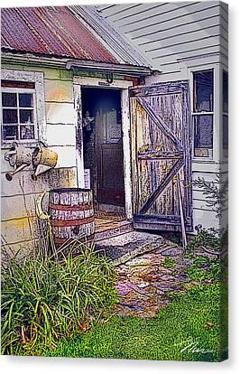 The Door Is Always Open Canvas Print by Nancy Griswold