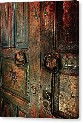 The Door Of Many Colors Canvas Print