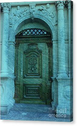 The Door To The Secret Canvas Print by Susanne Van Hulst